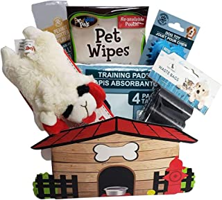 New Puppy Dog Gift Basket - Puppy Care Package - Small Medium Dogs
