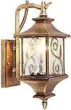 NZDY Europese Victoriaanse buitenwaterdichte wandlantaarn van aluminiumglas voor buiten, IP65, wandlamp E27, rustieke wand...