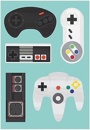 Plaquinhas Decorativas Kit 10 Und Consoles Retro Games