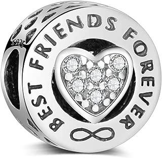 Abalorio de plata de ley 925, compatible con pulseras y collares Pandora y todos los europeos de Best Friends Forever