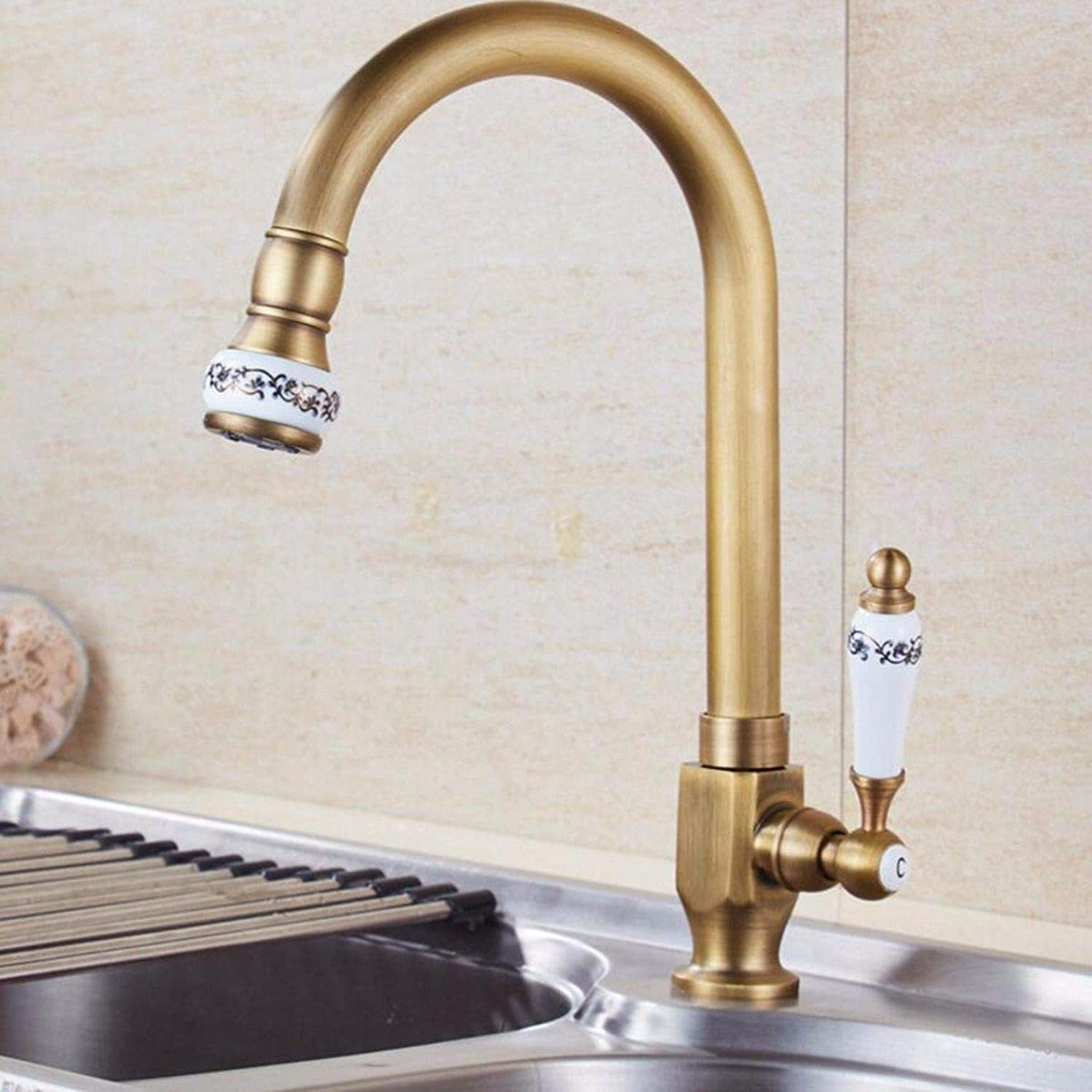 MulFaucet Antique Kitchen Single Cold Faucet Sitting Sink Sink Balcony Laundry Pool redatable Continental Single Cold Faucet