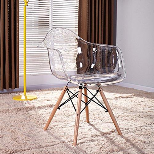 PLL Einfacher kreativer transparenter Lehnsessel-Designer-Plastikstuhl-Schreibtisch-Stuhl (Color : B)