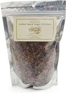 Jansal Valley Rock Sugar Crystals, Amber, 16 Ounce