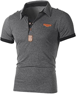 T-Shirts,Honestyi 2019 Neueste Modell Herren Poloshirt Kurzarm Klassisches Basic T-Shir hochwertigem Single Jersey Stoff S...