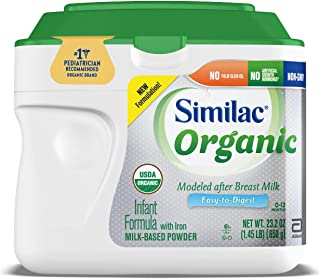 Similac Organic Infant Formula with Iron, Powder, 1.45 lb (Pack of 6) Package May Vary