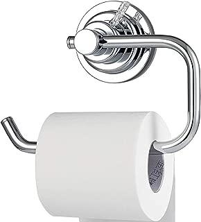 BOPai Modern Vacuum Suction Cup Toilet Paper Holder,Removable Bracket for Bathroom Kitchen.Chrome