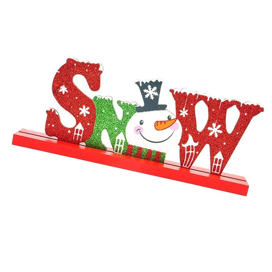 耐久サーバント味わうFutuHome メリークリスマス 卓上装飾 標識 単語 漫画 記号 クリスマス飾り - 雪