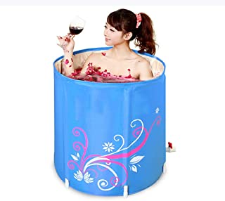 CCDDP Waterproof Bathtub - Portable and Simple Modern Bathtub for Adults, Baby Swimming Pool, Thick Free-standing Folding Bathtub