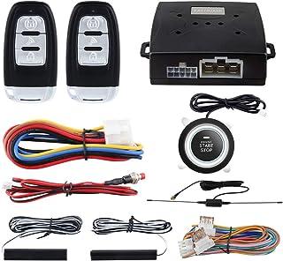 $64 » EASYGUARD EC003-1 PKE Passive Keyless Entry Car Alarm System Push Button Start Remote Start Starter DC12V