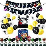 Vercico Juego de suministros para fiesta de cumpleaños con guirnalda de cumpleaños para niños,...