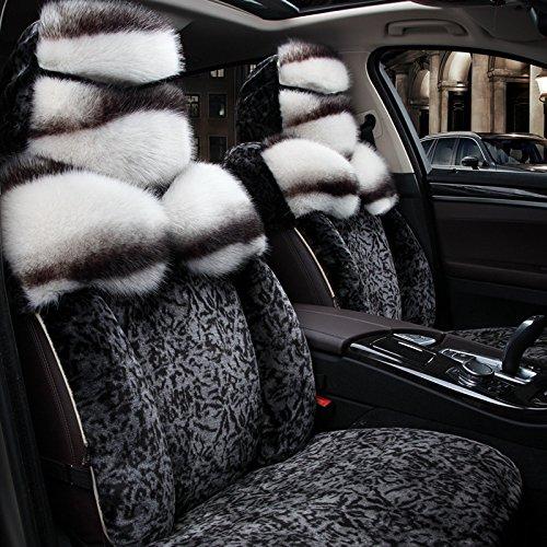 AMYMGLL Accessoires automobiles entièrement Cushion Cover Standard Edition Universal Coussin voiture Ensemble de fourrure et de printemps et d'automne 4 couleurs , #30