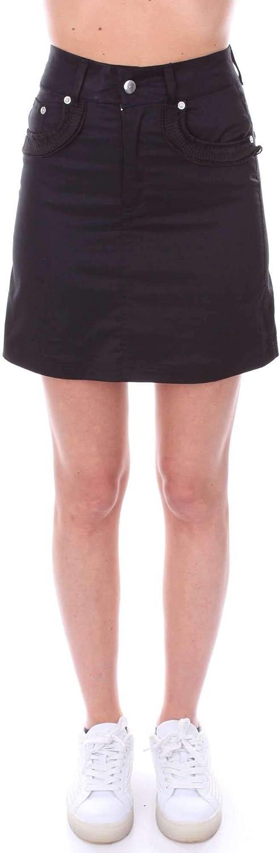 Numero00 Women's 2307BLACK Black Cotton Skirt
