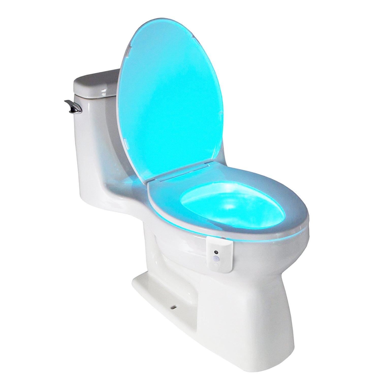 LED Toilette Nachtlicht, Batteriebetriebenes Toilettenbeleuchtung ...