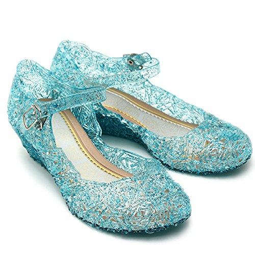 Katara- Zapatos con Cuña Disfraz Princesa Elsa Frozen Niña, Color azul, EU 29 (Tamaño del fabricante: 31) (ES10)