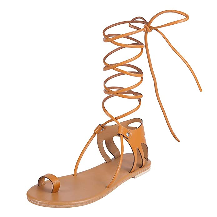 34-47 BOHO Gladiator Women Rhinestone Bling Strap Roman Sandals Flats US SIZE