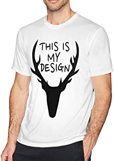 This is My Design A Deer Men's Short Sleeve T Shirts Tees