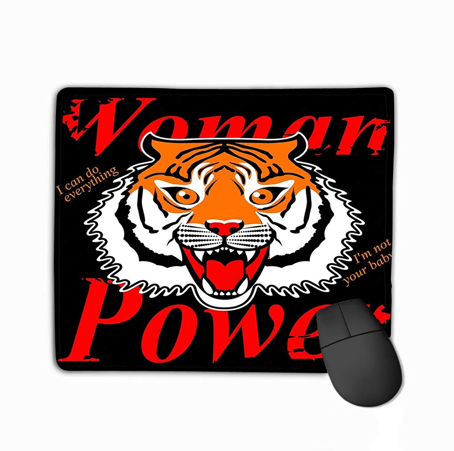 Mouse Pad Japanese Style Tiger Embroidery Patch Graphic Other uses Born to be Wild Tiger Graphic Rectangle Rubber Mousepad 11.81 X 9.84 Inch