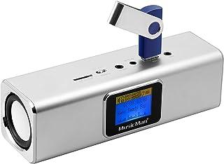 Technaxx Musicman MA - Altavoz portátil (Jack 3.5 mm, USB, MicroSD, 2 x 3 W RMS, pantalla LCD, UKW, 150 Hz - 18 kHz), color gris