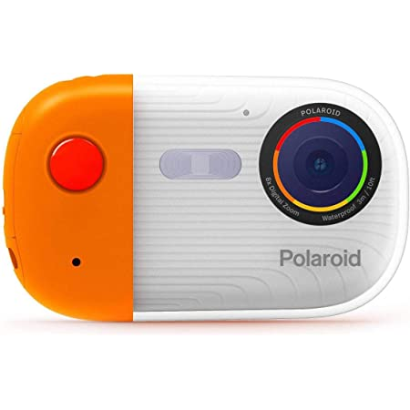 Polaroid Underwater Camera 18mp 4K UHD, Polaroid Waterproof Camera for Snorkeling and Diving with LCD Display, USB Rechargeable Digital Polaroid Camera for Videos and Photos (Orange)