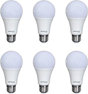 SIGMALED LIGTING PACK 6 BOMBILLA LED E27 LUZ NATURAL 15W (= 110W), 1425 lúmenes. Bombilla pequeña A60 con luz blanca natural 4000K, Clase de eficiencia energética A +, Dimensiones 65x135mm