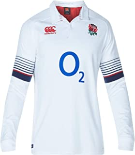 Canterbury England Home Classic Jersey 2017 2018 Mens Rugby White/Blue Top