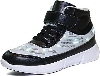 Dannto Scarpe da ginnastica per bambini, con luci a LED, con ricarica USB, cambia colore, per ragazze e ragazzi