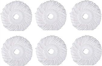 6 STKS 360° Spin Mop Vervanging Hoofd, Ronde Vorm Microfiber Standaard Maat MOP Hoofd Refill for H.U.R.R.I.C.A.n. E m.o.p....