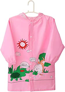 Duanguixia Poncho Boys and Girls Ages 3 to 7 Years 4 to 10 Years Preschool Fashion Cartoon Children's Raincoats