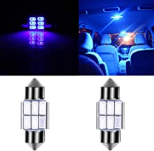 cciyu 31mm Car LED Bulbs Super Bright 2 Pack Blue 6SMD Replacement fit for Dome Map Light Trunk Interior Light Bulbs DE317...