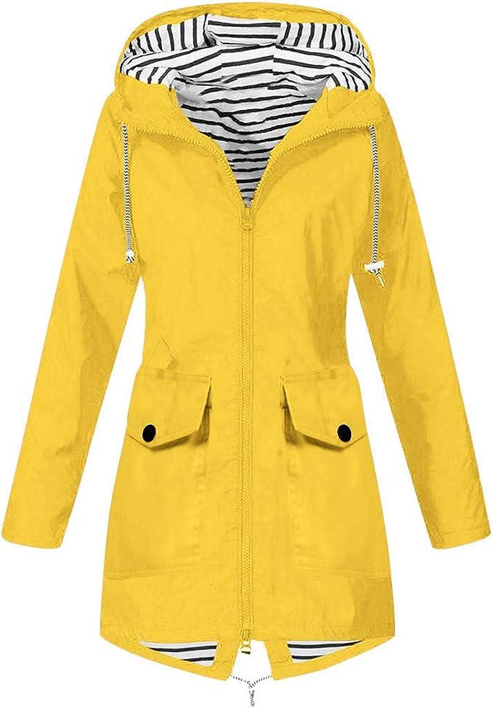 Rain Suits for Women Waterproof With Hood Outwear Solid Jackets Plus Size Windbreaker Hooded Overcoat Loose Raincoats