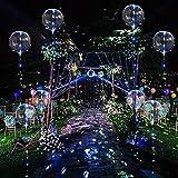 6 Globos con Luz Led Dentro, Globos de Helio Transparentes de Burbujas con Luces de Cadena de 10 pies para Cumpleaños, Bodas, Fiestas, decoración navideña