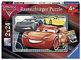 Ravensburger-Puzzle 2 x 24 Piezas, Cars 3, (07816)