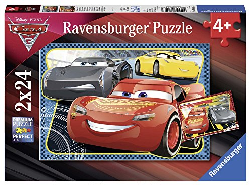 Ravensburger Kinderpuzzle 07816 - Abenteuer mit Lightning McQueen - 2 x 24 Teile