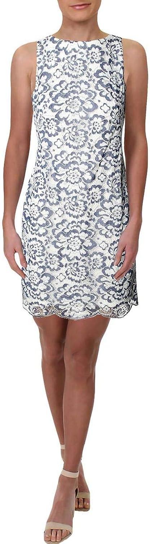Lauren Ralph Lauren Womens Lace Floral Cocktail Dress
