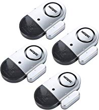 Door Window Alarm 4 Pack NOOPEL Magnetic Entry Sensor Burglar Alert 120DB Loud for Home Security Kids Safety with Batteries Included – DIY Home Protection Easy Installation
