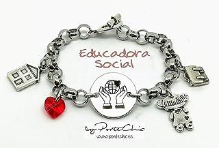 """Pulsera""""EDUCADORA SOCIAL"""" (Temática Profesiones)."""