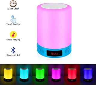 RC Night Light,Bedside Lamp,Table Lamps for Living Room Portable Touch Lamp with Dimmable Warm White Light & Color Changing RGB