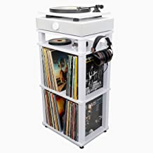 Andover Audio SpinStand Audio Component & Record Rack (White)