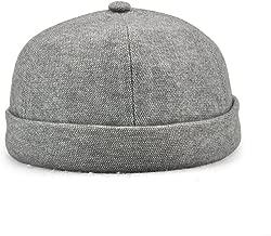 Winmany Unisex Women Men Skullcap Sailor Cap Rolled Cuff Retro Brimless Beanie Hat