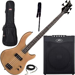 $469 » Dean Edge 09 Satin Natural Bass Guitar, Peavey Max 115 Amp, Wide Strap, Bag