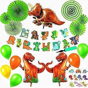 Elegant life 恐竜 ドラゴン 動物 happy birthday 特別 誕生日 飾り付けセット 風船 空気入れ付きおもちゃ バナー ガーランド バルーン パーティー 装飾 バースデー 男の子 女の子