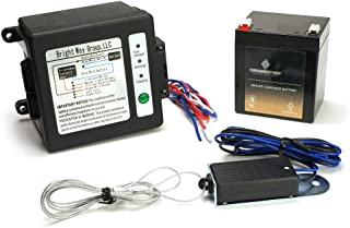 CB CHROMEBATTERY Breakaway Kit (Side-Load) for Trailer with Charger, Switch and 12 Volt 5 Amp Hour SLA Battery with LCD Screen