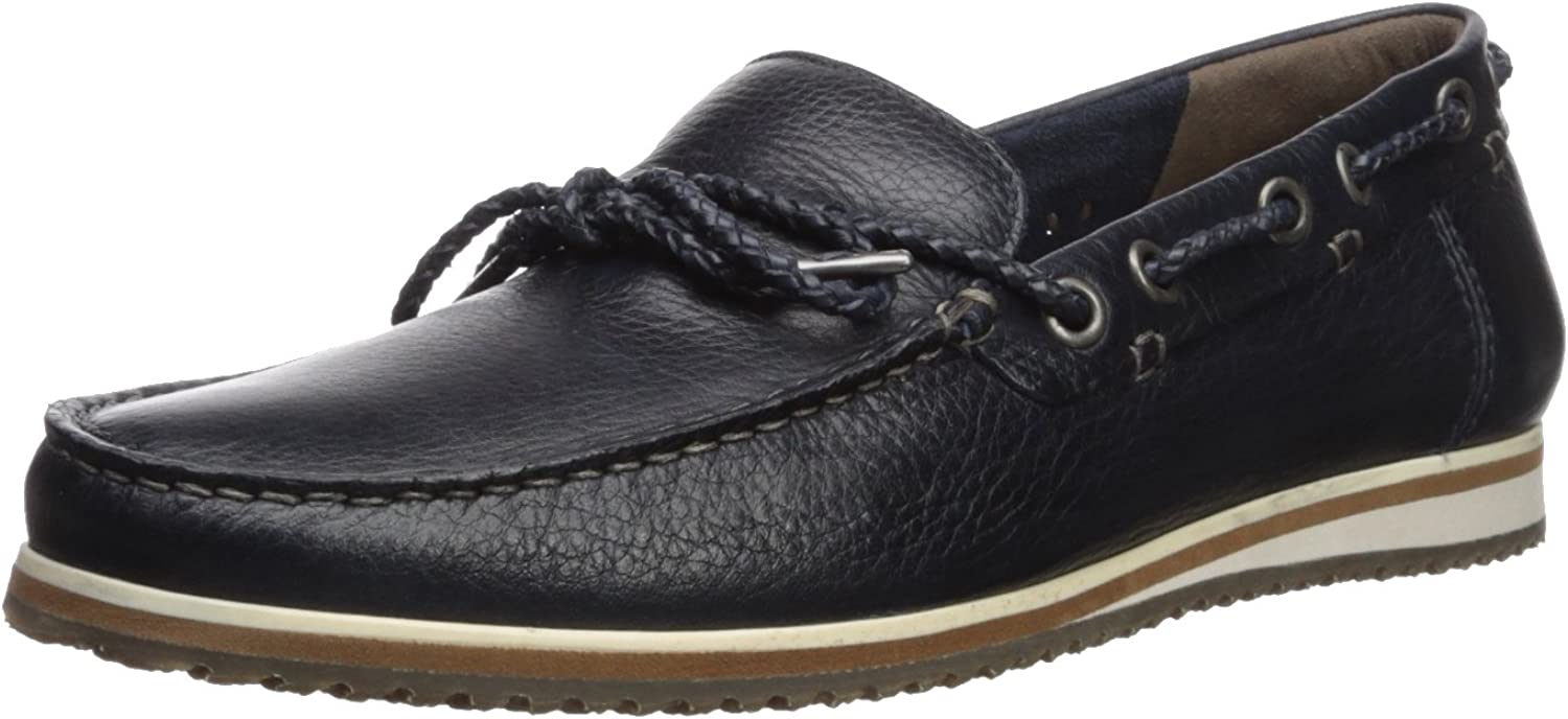 Hush Puppies Men's Bolognese Rope Lace Loafer, Navy, 9 W US