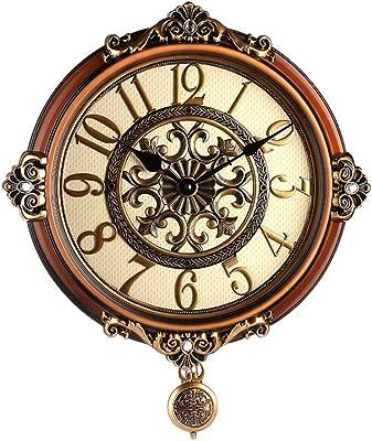ヨーロッパ式のレトロの無声居間の寝室のオフィスの創造的な腕時計シンプルな時計ファッションミュート(色:#1)