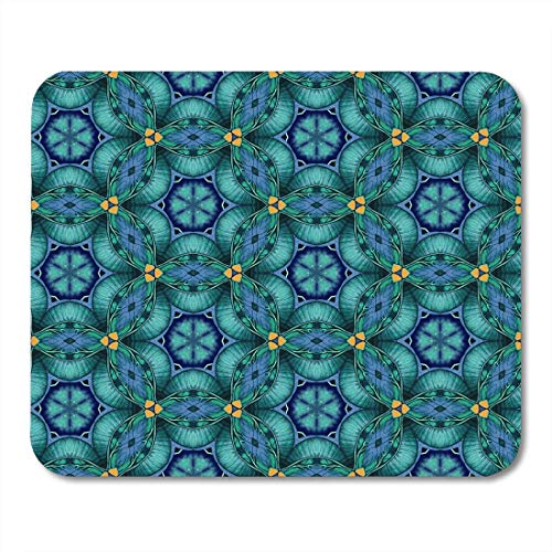 Mouse Pads Blue African Abstract Hand Watercolor Organic Shapes Geometrical for and Bohemian Colorful Aztec Mouse pad Mats 9.5
