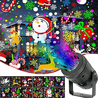 Australove Christmas Holiday Projector Lights Indoor,Christmas Projector Lights with 16 Slide Moving Pattern,Waterproof LE...