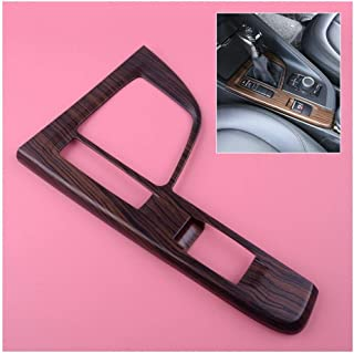 ZRNG Wooden Pattern Interior Shift Box Gear Position Panel Cover Trim Fit For BMW X1 F48 2016-2017 Easy to install