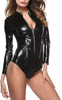 Best womens black leather bodysuit Reviews