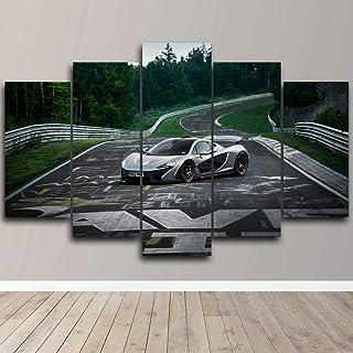 XIAYF Nurburgring Circuit McLaren Car 5 PièCes Impression Sur Toile Tableaux Hd ,Artistique Decoration Murale Maison Peint...