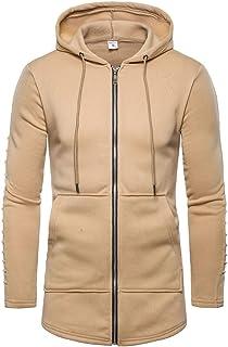 MODOQO Men's Zipper Hoodies Warm Soft Outdoor Sports Gyms Running Pullover Sweatshirt